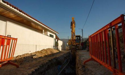 Arrancaram as obras de saneamento em S.Martinho do Campo