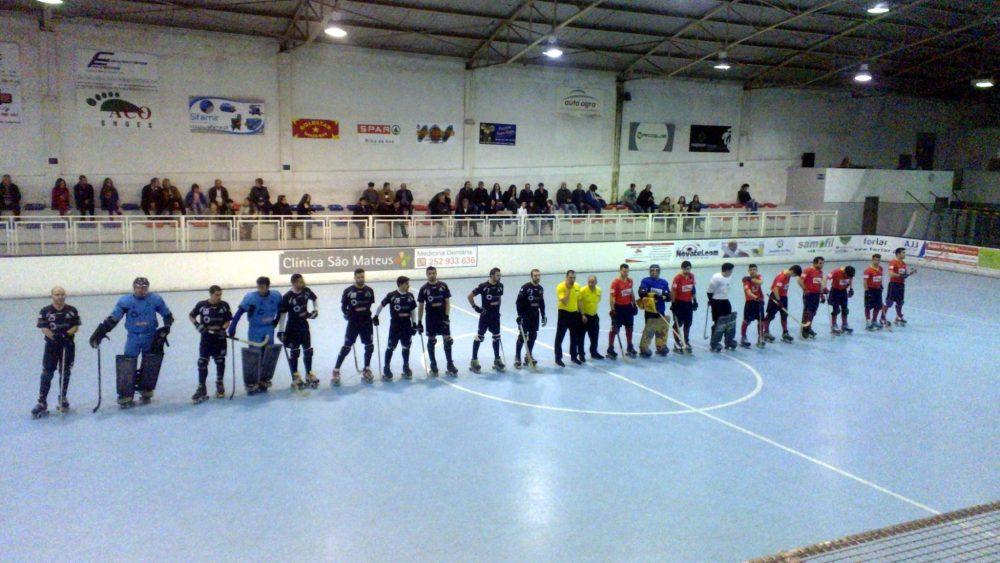 """Hóquei em Patins Riba d' Ave HC 9 – 3 A. Académica de Espinho Vitória sem """"espinhos"""""""