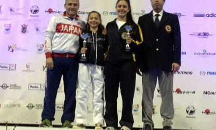 Karatecas  Ana Pinto e Lea Barros em destaque
