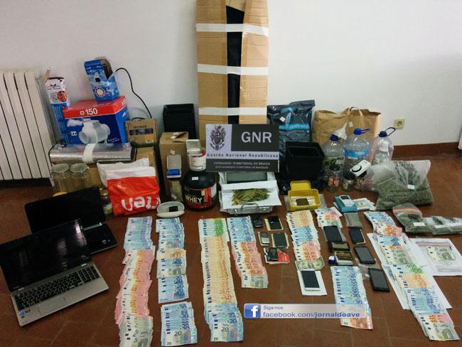 Cinco detidos em desmantelamento de rede de tráfico de droga que vendia em Joane e Riba d'Ave