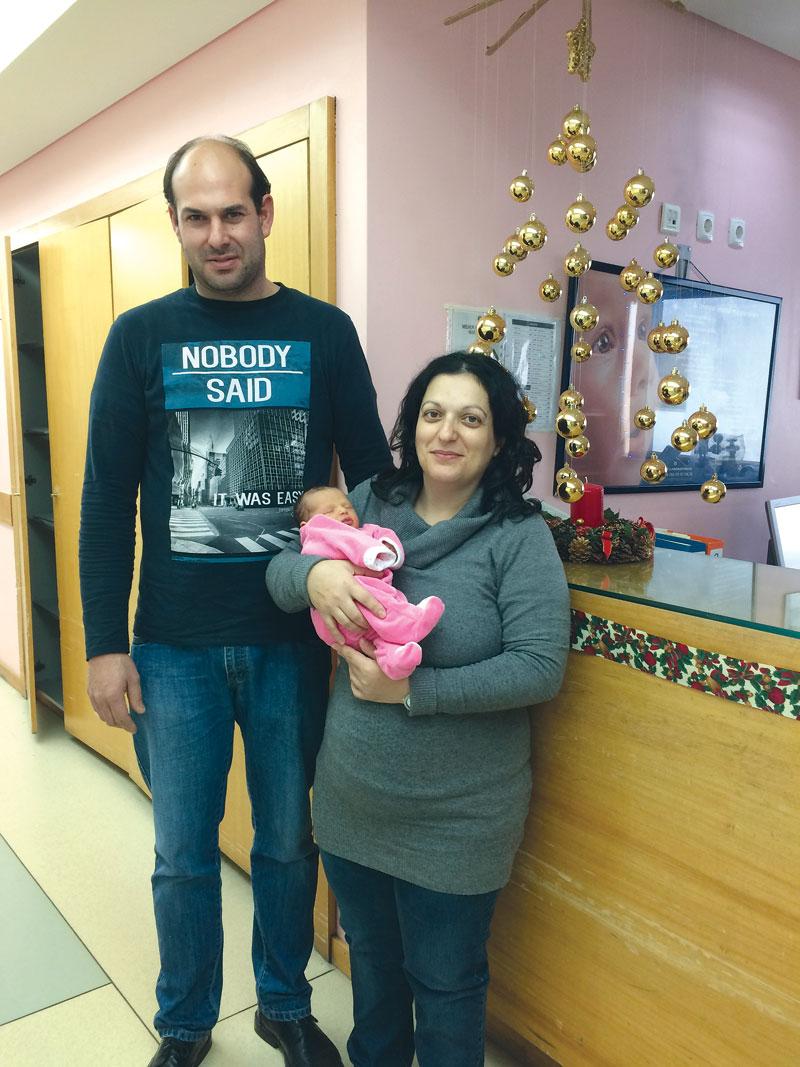 A primeira bebé do Centro hospitalar