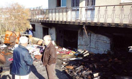 Incêndio danificou habitação