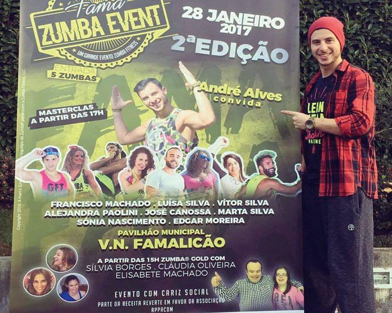 """Mais de 300 pessoas  no """"Fama Zumba Event"""" é o objetivo"""