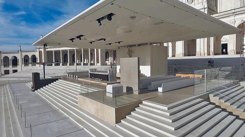 Parede elevatória do Santuário de Fátima criada por empresa famalicense