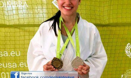 Tirsense é vice-campeã europeia de karate