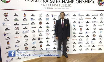 Joaquim Fernandes arbitrou  Campeonato do Mundo de karate