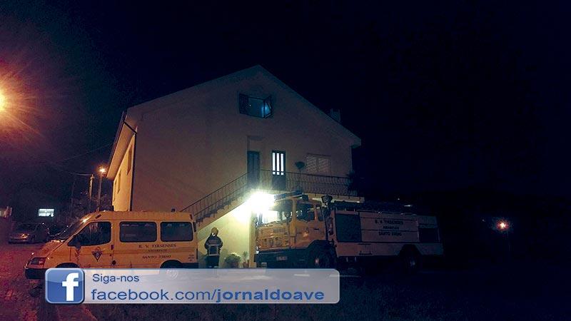 Incêndio em habitação em S. Miguel do Couto