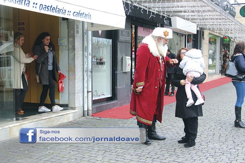 Pai Natal chegou a Santo Tirso