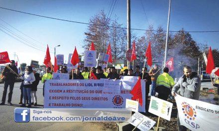 Trabalhadores do LIDL de Ribeirão em greve