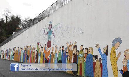 Arcanjo S. Miguel inspira mural de arte urbana
