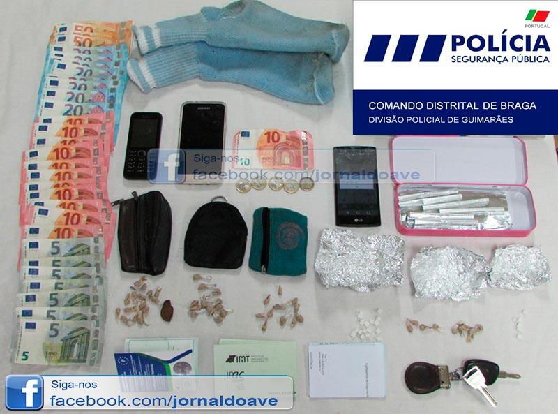 Detidos por tráfico de droga em Famalicão