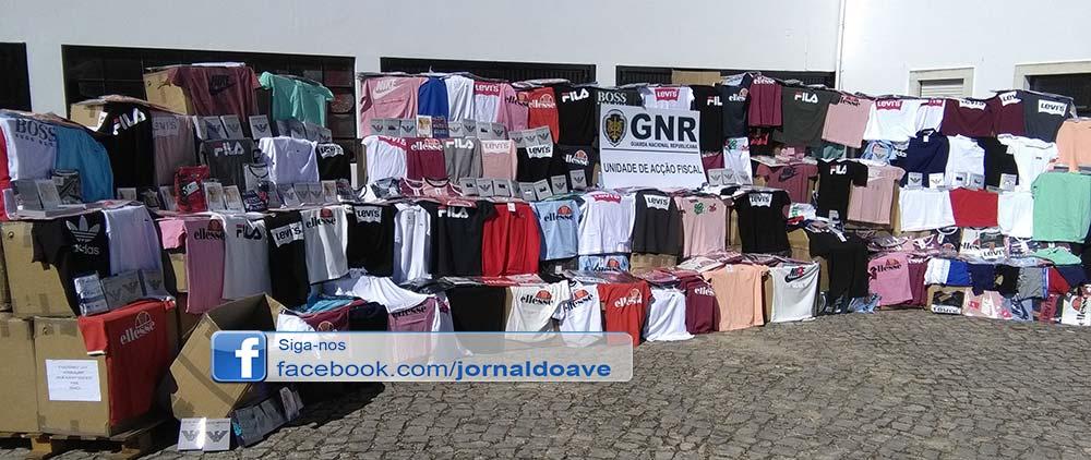 17560 peças de vestuário contrafeito apreendidas em Santo Tirso
