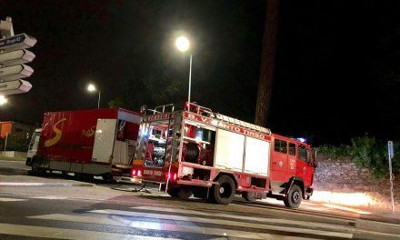 Incêndio em veículo pesado em Santo Tirso
