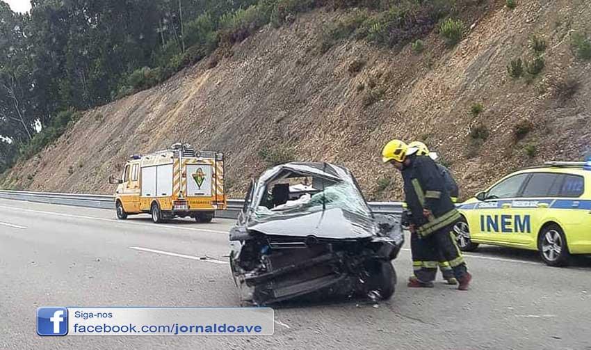 Feridas gravemente em acidente na A3
