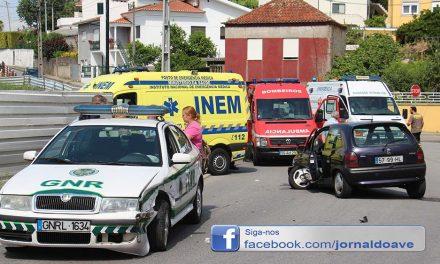 Militares da GNR feridos em acidente (C/video)
