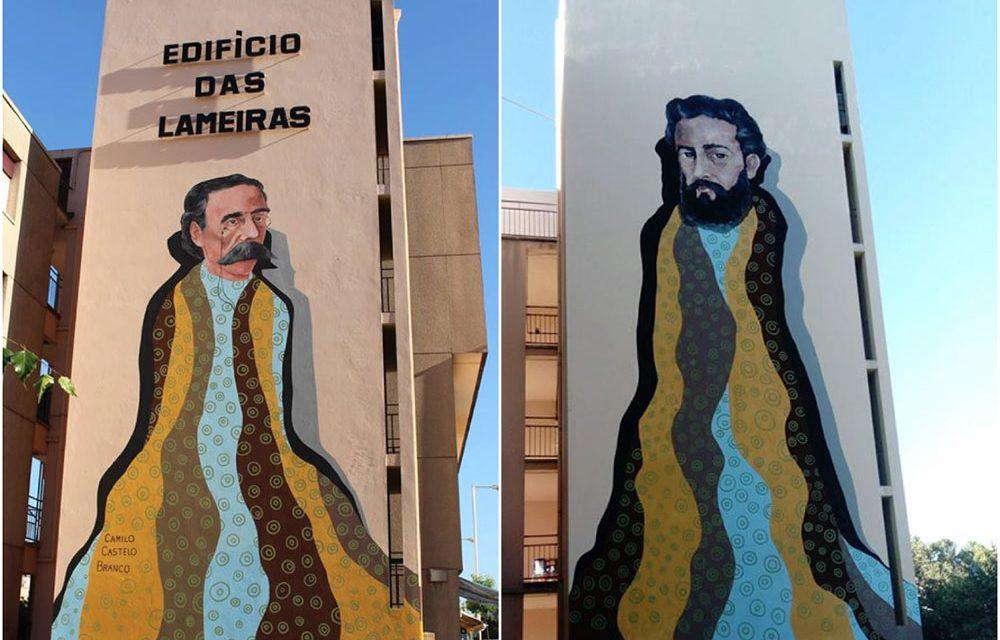 Jovens de Famalicão convertem torres do Edifício das Lameiras no maior projeto de arte urbana do Minho