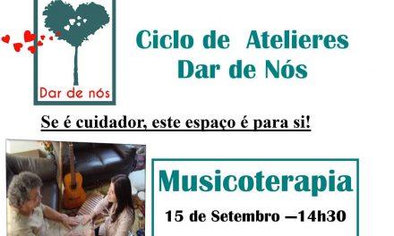 Atelier de musicoterapia para cuidadores a 15 de setembro