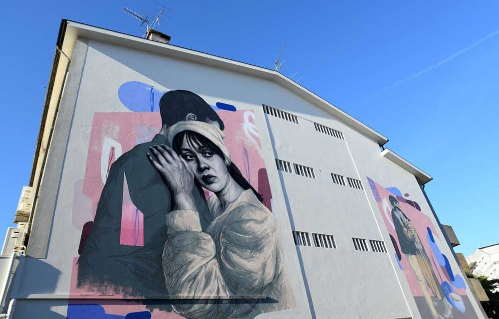 Frederico Draw perpetua Camilo no novo mural de arte urbana de Famalicão