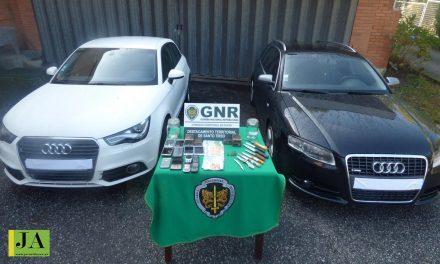 GNR detém 3 homens e apreende 2500 doses de haxixe