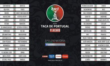 Já são conhecidos os jogos 3ª eliminatória da Taça de Portugal