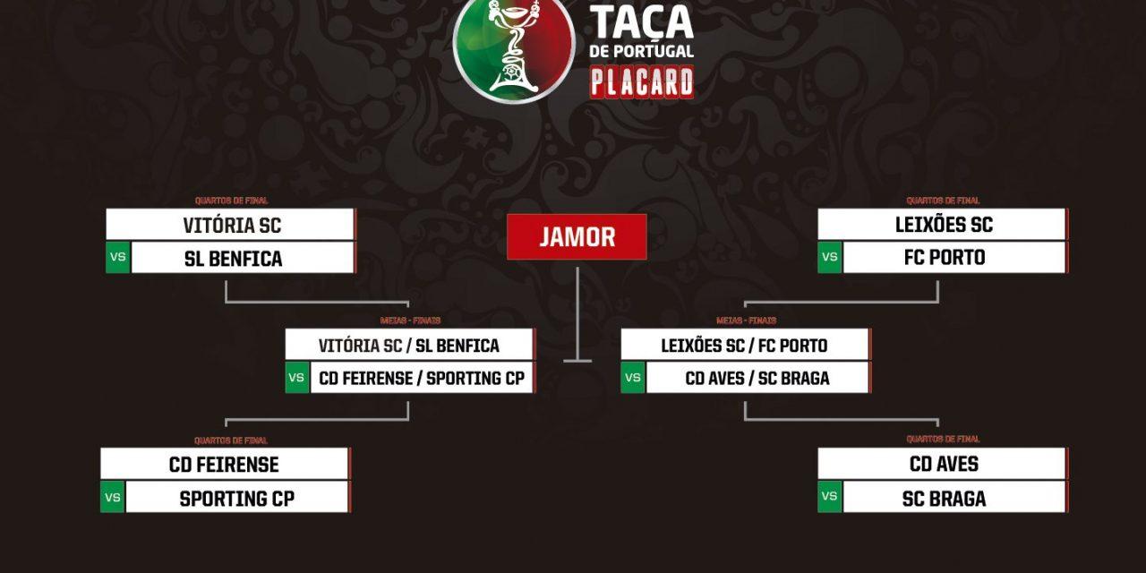 Aves recebe o Braga nos quartos da Taça de Portugal