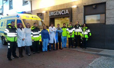 VMER e SIV do Centro Hospitalar do Médio Ave fazem minuto de silêncio