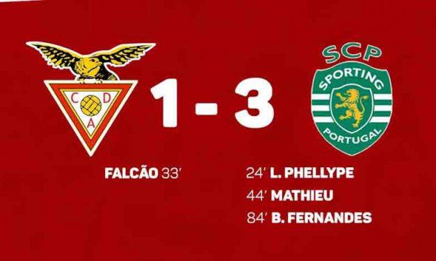 Sporting com 10 vence Desportivo das Aves