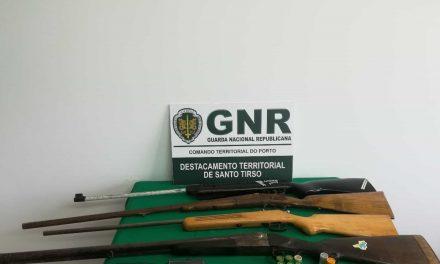 NIC da GNR de Santo Tirso apreende armas