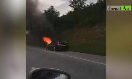 Video – Carro a arder na A3