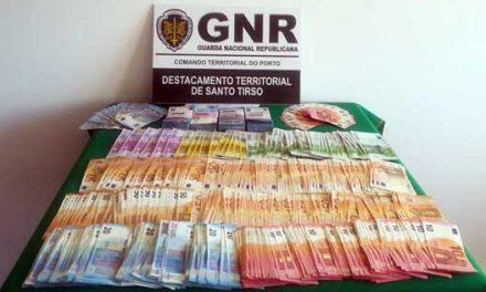 GNR detém suspeito de furto a residência em Vila das Aves e recupera 37 mil euros
