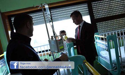 Visita Pascal levou Paulo Cunha ao Hospital de Famalicão