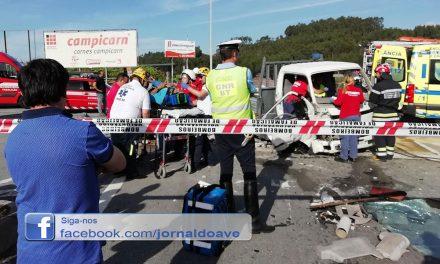 Grave colisão na entrada da A7 em Seide