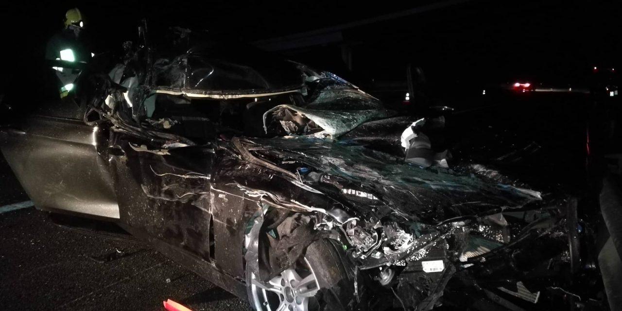Ferido grave em colisão na A3 – (c/galeria fotográfica)