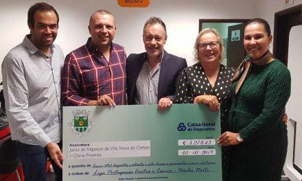 Vila Nova do Campo entrega mais 5000 euros à Liga Portuguesa Contra o Cancro