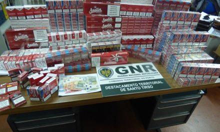 GNR apreende mais de mil maços de tabaco contrafeito em Vila das Aves