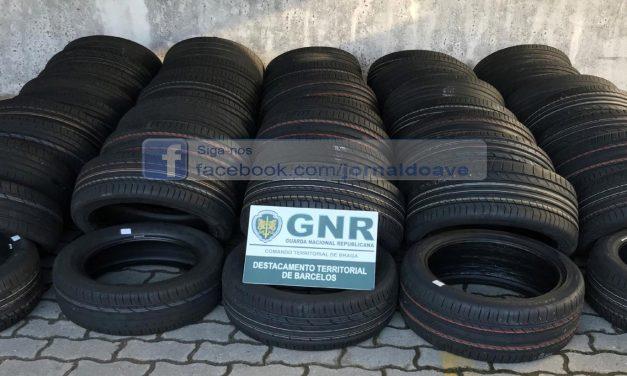 GNR apreendeu 46 pneus furtados em Famalicão