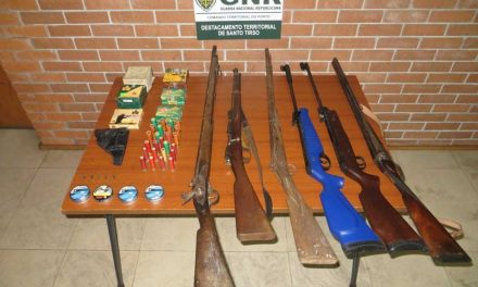 Apreensão de armas de fogo pelo crime de ameaças
