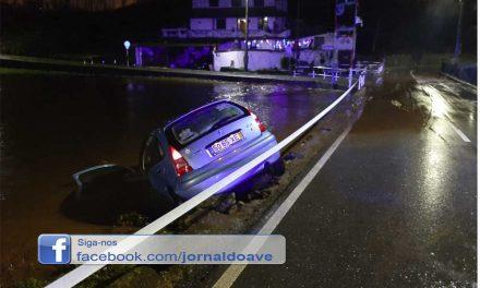 Carro despista-se e cai ao rio em Santo Tirso
