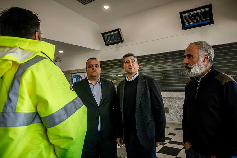 Presidente-da-Câmara-de-Santo-Tirso,-Alberto-Costa,-visitou-as-obras-na-estação