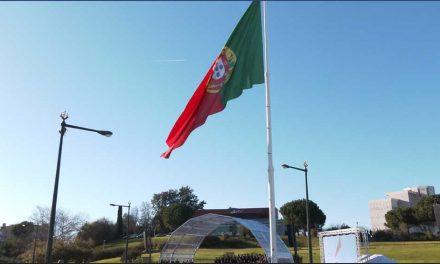 """Lisboa ergue primeira bandeira """"Made in Santo Tirso"""" produzida com detritos dos oceanos"""
