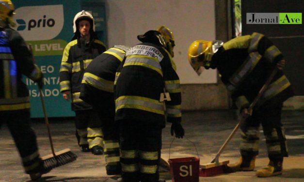 Video▶ Derrame de gasóleo levou ao encerramento de posto da Prio na Rua Ferreira de Lemos, em Santo Tirso