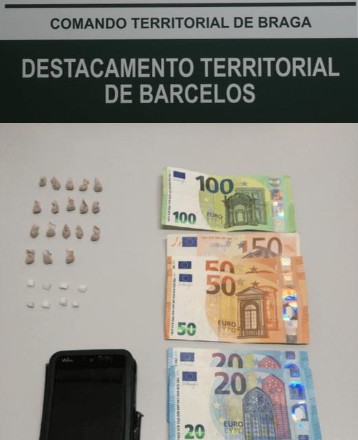 GNR de Riba de Ave deteve homem por posse de droga